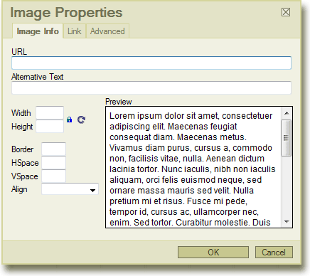 removing the upload tab and browse server button in the fckeditor image properties dialog