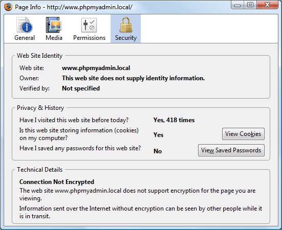 page info in firefox